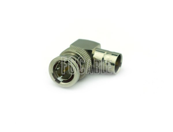 75 Ohm BNC Male To 75 Ohm BNC Female Right Angle Adapter