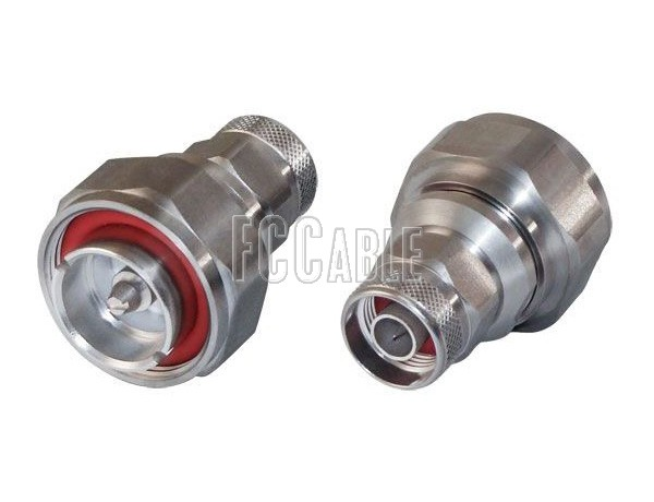 Low PIM 7/16 DIN Male To N Male With SS Coupling Nut Adapter