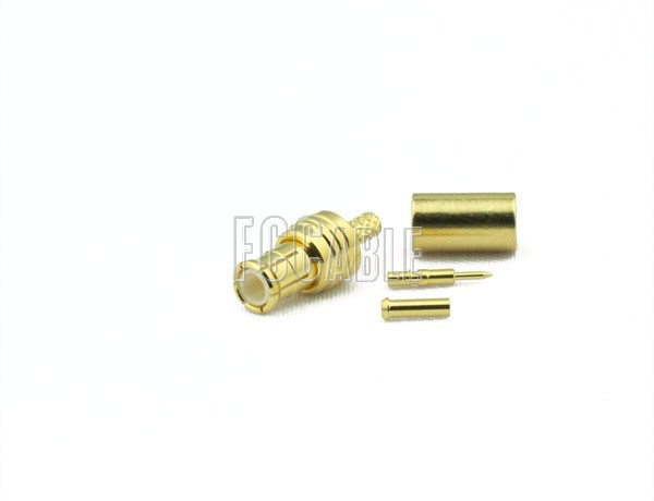 RF MCX Plug Connector CRIMP For RG178, RG196