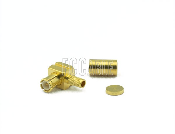RF MCX Plug Connector Right Angle CRIMP For RG188DS, RG316DS
