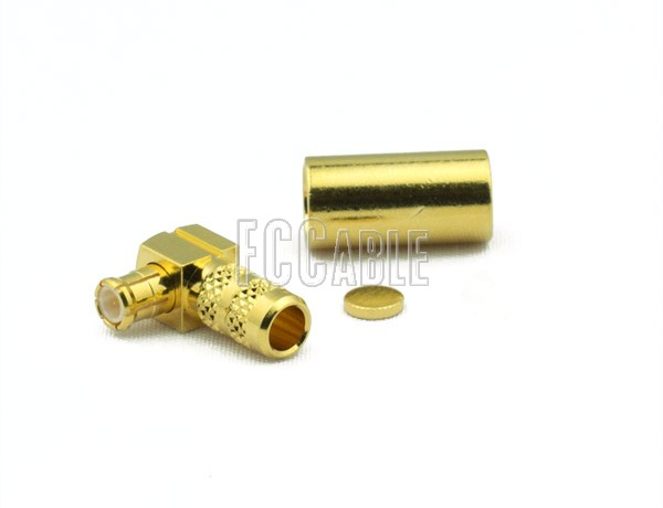 RF MCX Plug Connector Right Angle CRIMP For RG55, RG142, RG223, RG400