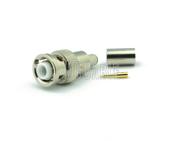 RF MHV Male Connector CRIMP For RG59, RG62, RG140, RG210