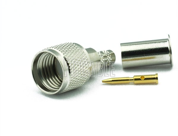 RF MINI-UHF Male Connector CRIMP For RG55, RG142, RG223, RG400