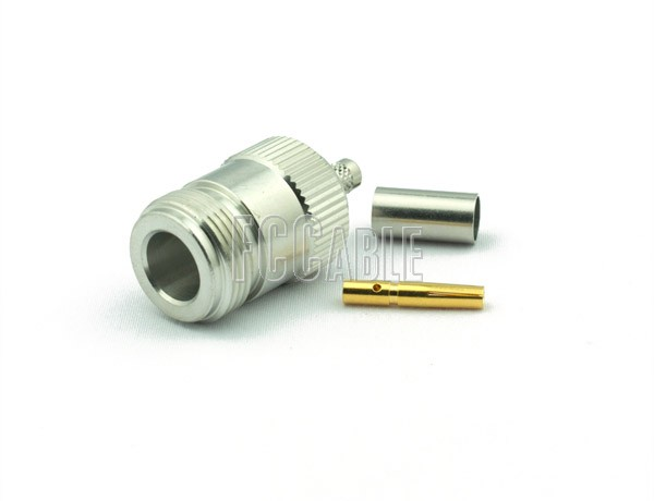 N Female Connector CRIMP For RG58, RG141, RG303, LMR195, B7806A