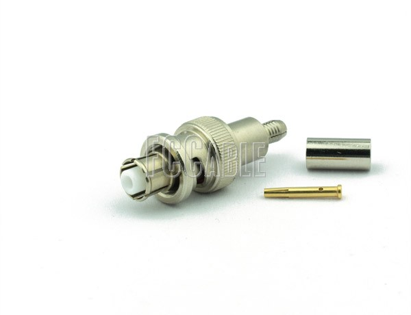 RF SHV Plug Connector CRIMP For RG55, RG142, RG223, RG400