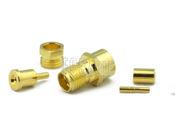 RF SMA Female Connector CRIMP For RG188DS, RG316DS