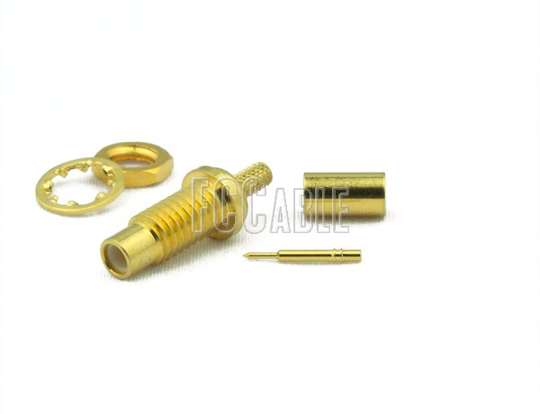 RF SMC Jack Connector Bulkhead CRIMP For RG174, RG188, RG316, B7805A