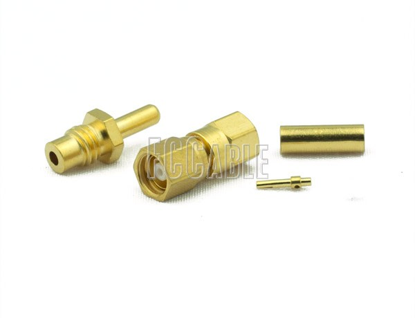 RF SMC Plug Connector CRIMP For RG178, RG196