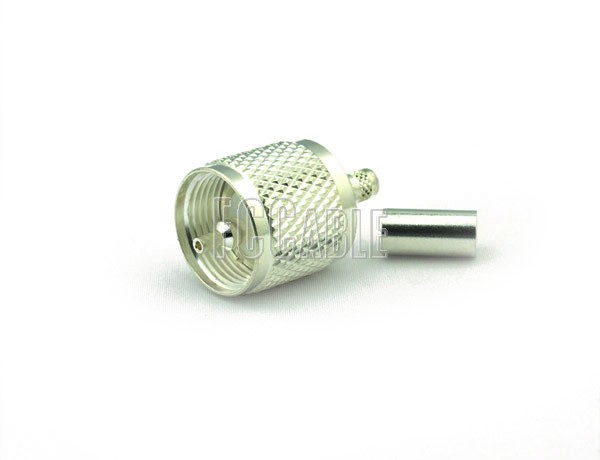 UHF Male Connector CRIMP For RG58, RG141, RG303, LMR195, B7806A