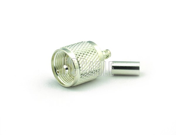 UHF Male Connector CRIMP For RG59, RG62, RG140, RG210