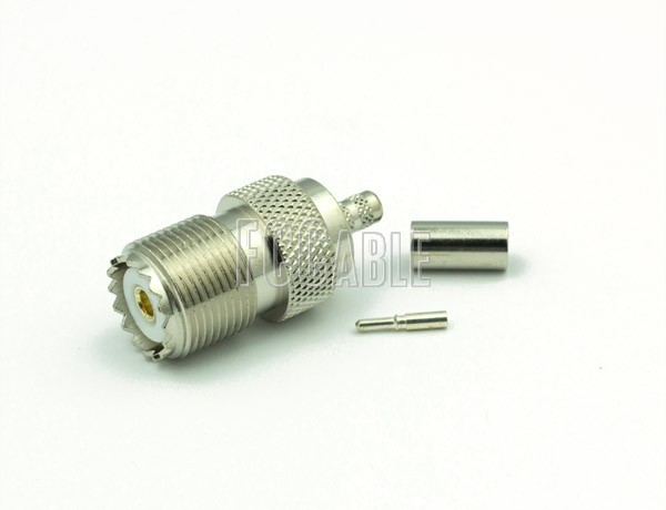 UHF Female Connector CRIMP For RG58, RG141, RG303, LMR195, B7806A