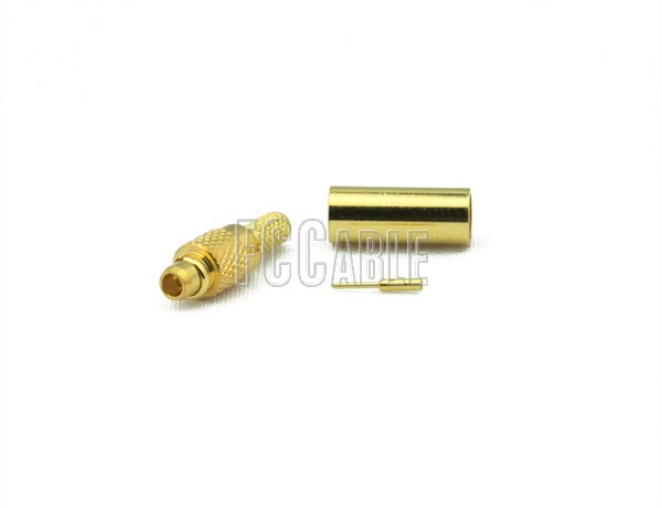 MMCX Plug Connector CRIMP For RG188DS, RG316DS