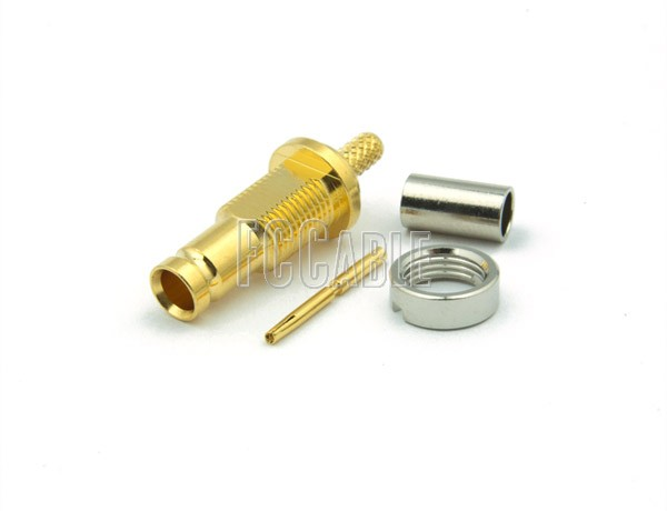 1.0/2.3 Bulkhead Jack Connector CRIMP For RG174, RG188, RG316, B7805A