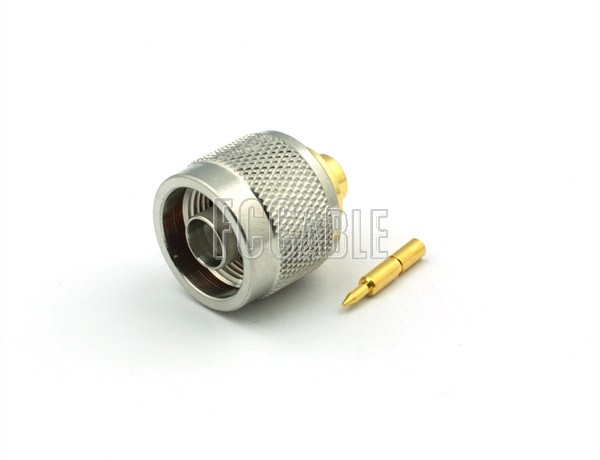 N Male Connector SOLDER For RG401, RG401AL, RG401FL