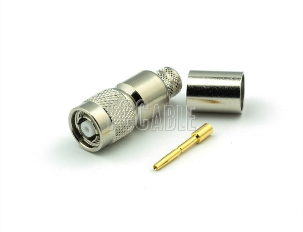 TNC Reverse Polarity Male Connector CRIMP For RG8, RG213, RG393