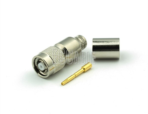 TNC Reverse Polarity Male Connector CRIMP For B9913, LMR400, B7810A, B8214