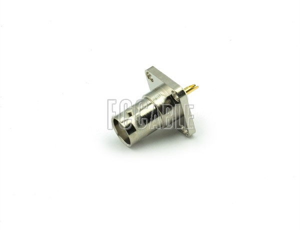 BNC Female Connector Panel Mount Solder Cup Contact