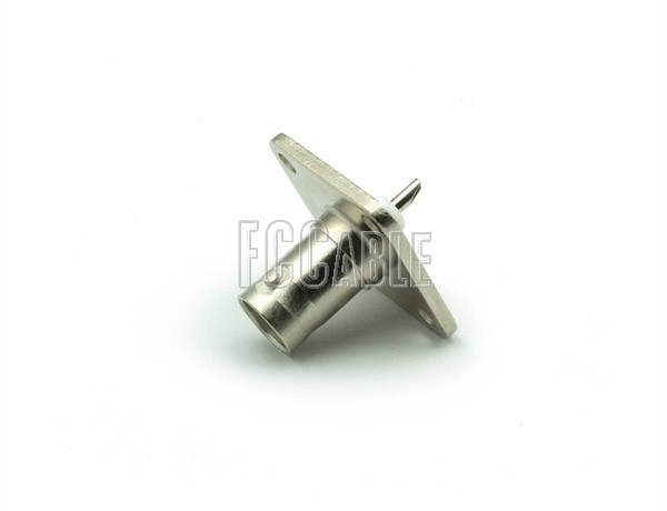 BNC Female Connector Panel Mount 1 SQ. FLANGE Solder Cup Contact