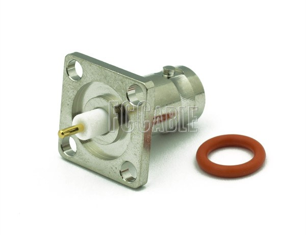 BNC Female Connector PANEL RECEPTACLE-EXP TEFLON-GAS/SEAL