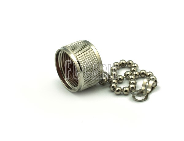 N MALE NON-SHORTING DUST CAP WITH CHAIN
